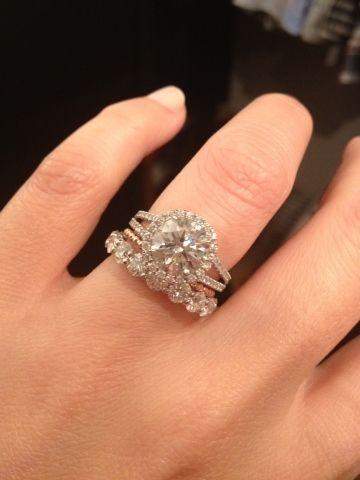 1.50Ct Round White Moissanite Diamond Luxury Bridal Wedding Ring Set Solid 14k Yellow Gold