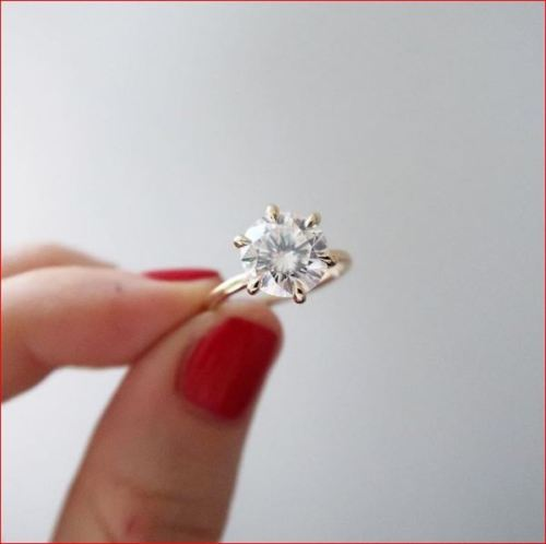 Huge 1.75Ct White Moissanite Diamond Engagement Wedding Ring Solid 14k Yellow Gold