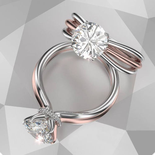 1.80Ct Excellent Cut Moissanite Solitaire Engagement Wedding Ring Solid 14k Rose Gold
