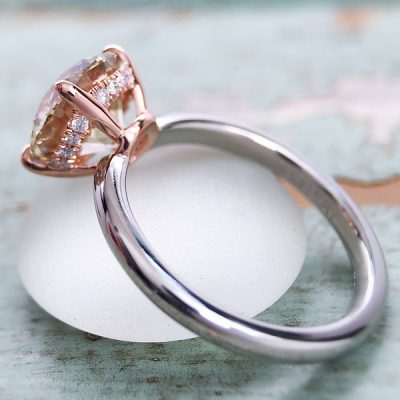 2.Ct Real White Moissanite Solitaire Engagement Promise Ring Solid 14k Rose Gold