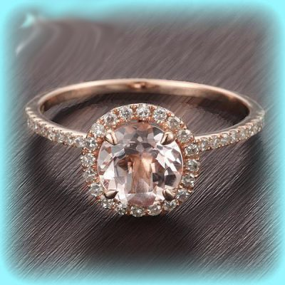 1.60Ct Excellent Cut White Moissanite Diamond Halo Engagement Ring Sold 14k Rose Gold