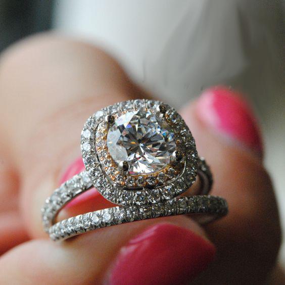 1.78Ct Brilliant White Moissanite Luxury Bridal Wedding Engagement Ring Set 14k White Gold