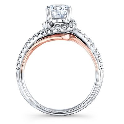 Classic 2.00Ct Round Cut Moissanite Engagement Wedding Ring Solid 14k White Gold
