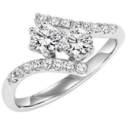 2.Ct Real Round 2 Moissanite Diamond Engagement Promise Ring 14k White Gold