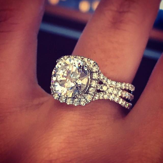 2.25Ct Brilliant Moissanite Diamond Engagement Wedding Ring Solid 14k White Gold