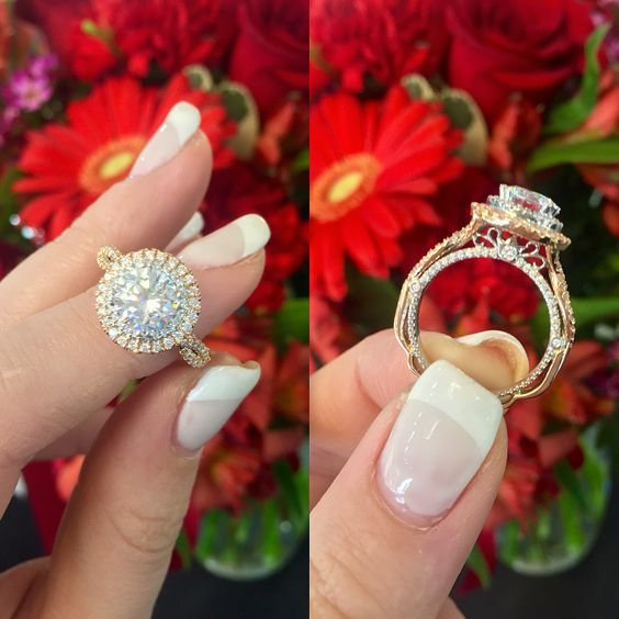 1.92Ct Round Cut Moissanite Diamond Classic Engagement Ring Solid 14k White Gold