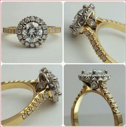 Certified 2.15Ct Brilliant Real Moissanite Engagement Bridal Ring Solid 14k Yellow Gold