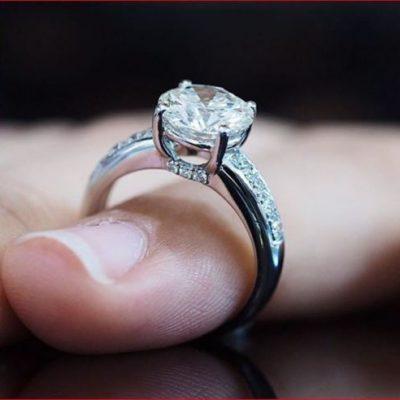 1.77Ct Round Cut White Moissanite Classic Engagement Wedding Ring 14km White Gold