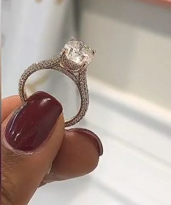 Forever 1.88Ct Real Round Moissanite Engagement & Wedding Ring Solid 14k Rose Gold