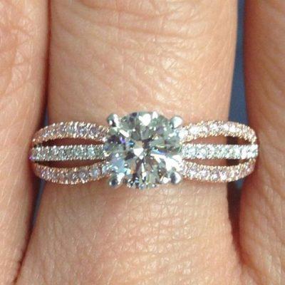 2.Ct Real Round Moissanite Diamond Luxury Bridal Wedding Engagement Ring 14k White Gold