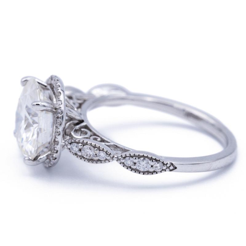 Gorgeous 2.Carat White Moissanite Diamond Engagement Wedding Ring 14k White Gold