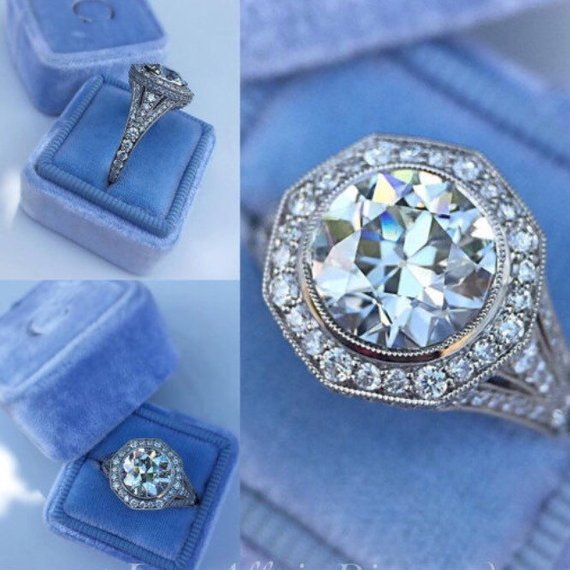 2.05Ct Real Round Cut Moissanite Bezel Engagement Wedding Bridal Ring Solid 14k White Gold