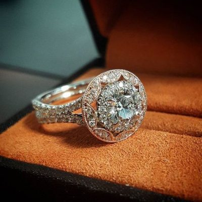 Certified 2.00Ct Brilliant Cut Moissanite Diamond Engagement & Wedding Ring Solid 14k White Gold