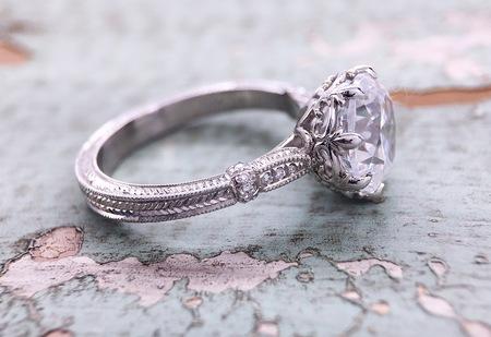 2.Carat Brilliant Real VVS1 Moissanite Diamond Engagement & Bridal Wedding Ring 14k White Gold