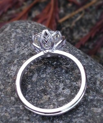 2.05Ct Real Round Moissanite Diamond Solitaire Engagement & Wedding Ring 14k White Gold
