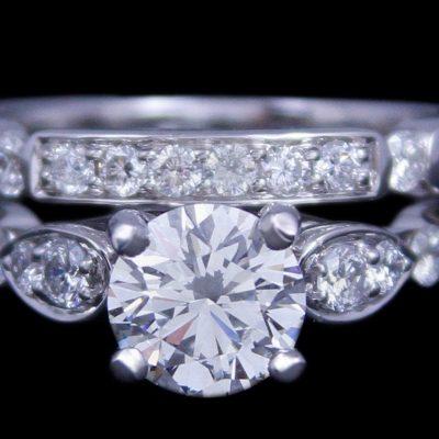 2.05Ct Near White Real Round VVS1 Diamond Engagement & Wedding Bridal Ring Set 925 Sterling Silver