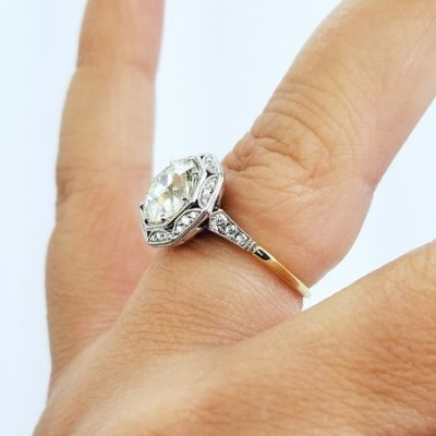 Antique 2.10Ct Brilliant Cut Diamond Bridal Wedding Ring & Engagement Ring 925 Sterling Silver