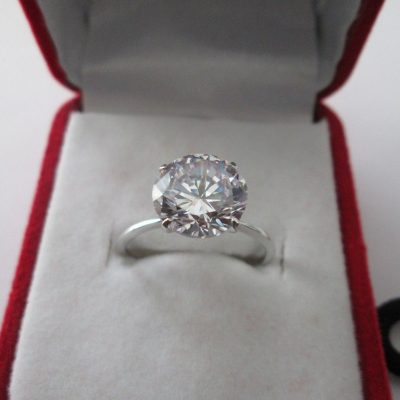 2.50Ct Brilliant Cut Real Moissanite Solitaire Engagement & Wedding Ring 14k White Gold