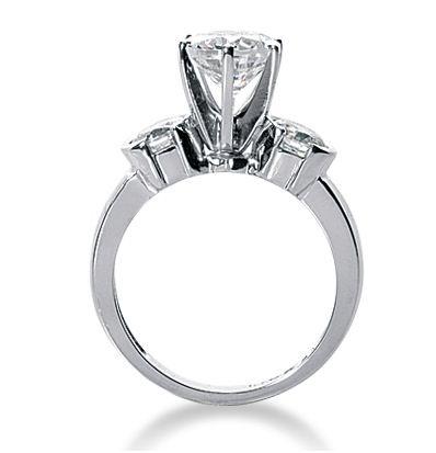 2.10Ct Forever 3 Stone VVS1 Moissanite Solitaire Engagement & Wedding Bridal Ring 14k White Gold