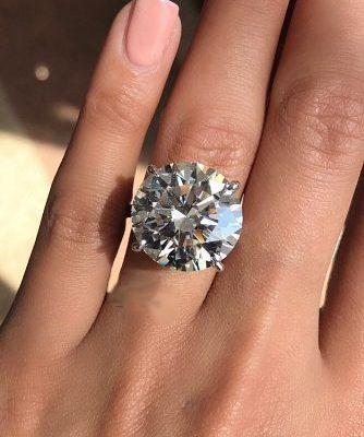 3.50Ct Big Round Cut Moissanite Diamond Engagement Ring Wedding Ring 14k White Gold