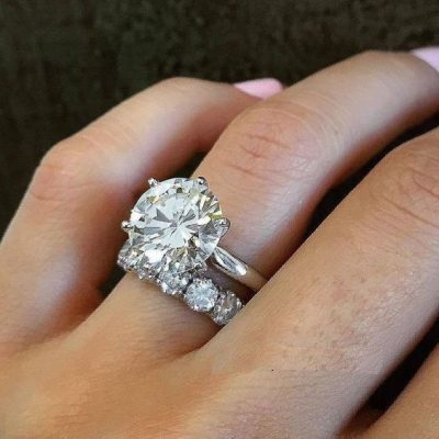 1.88Ct Round White Diamond Solitaire Engagement Ring & Wedding Set 925 Sterling Silver