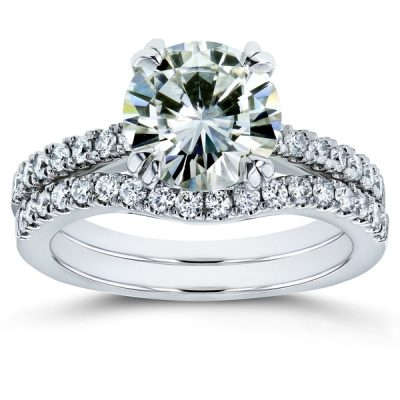 2.03Ct Round Cut White Brilliant Diamond Wedding Engagement Ring 925 Sterling Silver