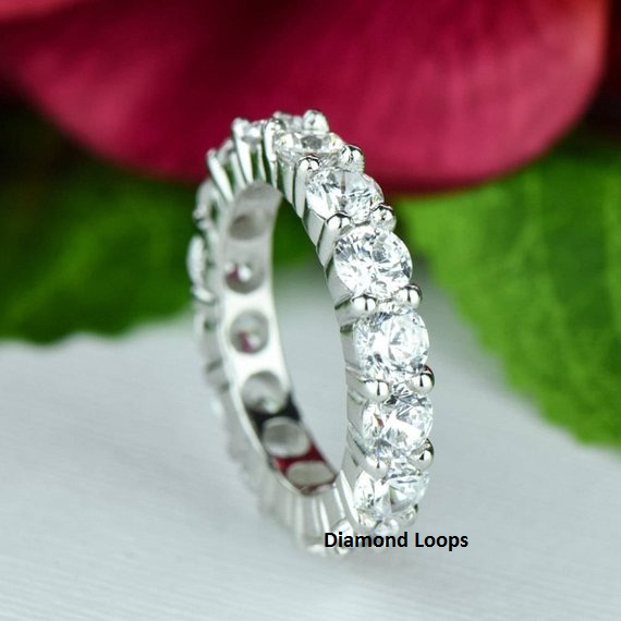 2.70Ct Forever Round Cut VVS1 Diamond Engagement & Anniversary Ring 925 Sterling Silver