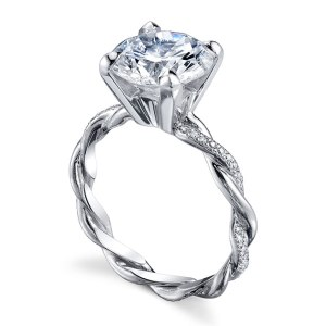 2.10Ct Round Cut Moissanite Diamond Twisted Bridal Wedding Ring Set 14k White Gold