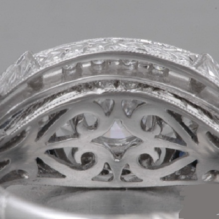 1.88Ct Forever Round Cut Diamond Art Deco Vintage Wedding Ring 925 Sterling Silver