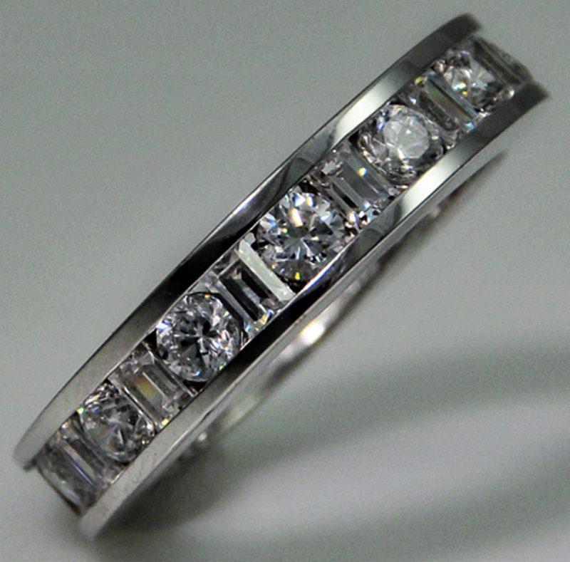 3.60Ct Brilliant Cut White Diamond Eternity Wedding & Anniversary Band 925 Sterling Silver