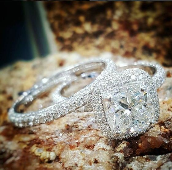 2.00Ct White Cushion Diamond Engagement Ring & Anniversary Set 14k White Gold