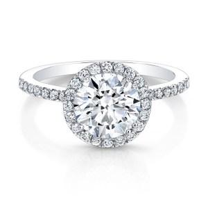 2Ct VVS1 White Diamond Halo Wedding & Engagement Ring 925 Sterling Silver