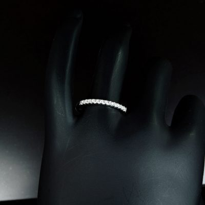 1.25 CT Round Cut Diamond Engagement Half Eternity Ring Band 925 Sterling Silver