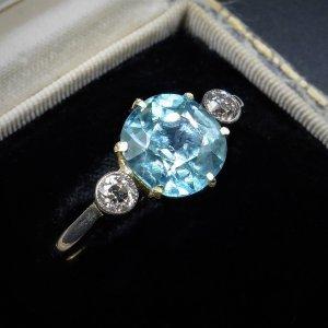 2.00Ct Brilliant Cut Light Blue Diamond Fancy Engagement Ring 14k Solid White Gold