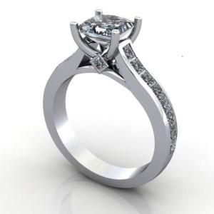 1.70Ct Princess Cut Real Moissanite Diamond Best Engagement Ring 14k White Gold