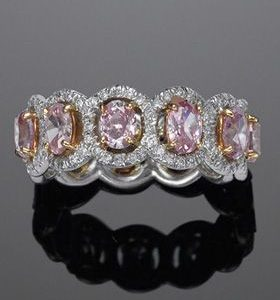 3.83Ct Oval Cut Pink Diamond Halo Wedding Engagement Ring Solid 14k White Gold Over
