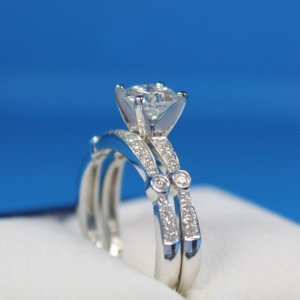 1.88Ct Round Cut Real Moissanite Solitaire Engagement Ring Solid 14k White Gold