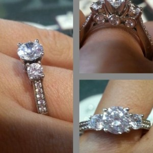 2.30Ct Forever Round Cut Moissanite Wedding Engagement Ring Solid 14k White Gold