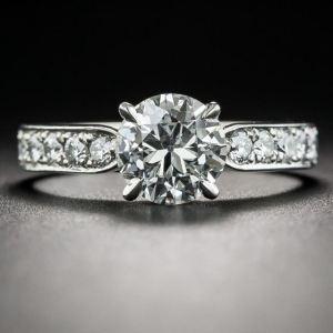 2.00Ct Round Cut VVS1 Moissanite Antique Engagement Ring 14k White Gold