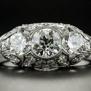 1.90 Carat Bezel-Set Round Moissanite Wedding & Engagement Ring 14k Gold Plated