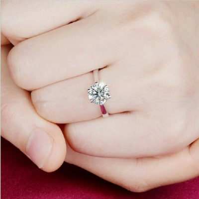 1.00 CT Excellent Cut Moissanite Solitaire Engagement Ring 925 Sterling Silver