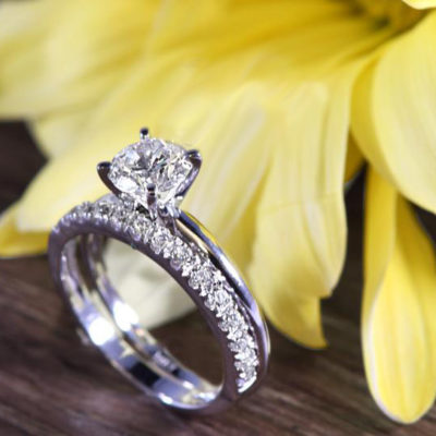 1.33 CT Brilliant Cut Moissanite Solitaire Engagement Gift Ring 14K White Gold