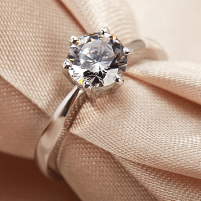 1.00 CT Round Cut Moissanite Solitaire Engagement Gift Ring 925 Sterling Silver