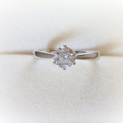 1.20 Ct Round Cut Moissanite Solitaire Wedding Anniversary Ring 14K White Gold