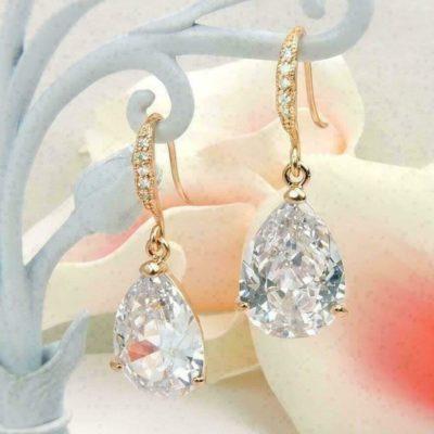 4 Ct Round VVS1 Near White Moissanite Push Back Stud Earrings 10k White Gold