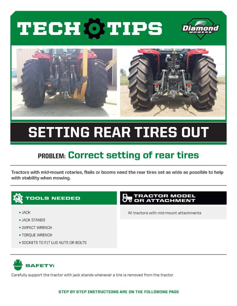 Tech Tips for Setting Rear Tires
