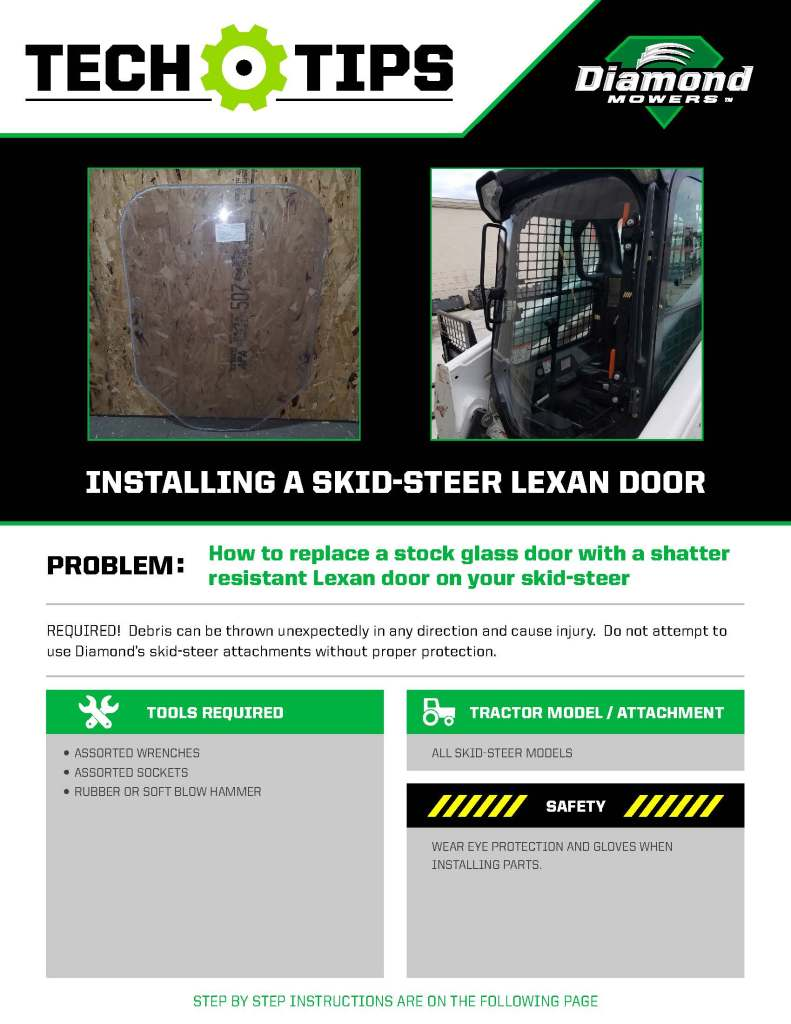 Tech Tips for Installing a Lexan Door on a Skid-Steer