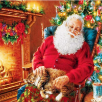 Sleeping Santa Diamond Painting Kit