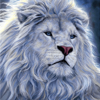 White Lion Diamond Painting Kit