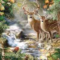 River Deer Diamond Painting Kit
